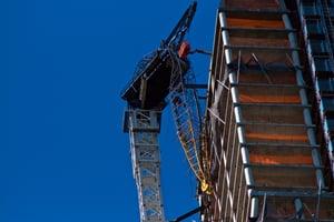 Damaged Crane in Boston - Hurricane Sandy