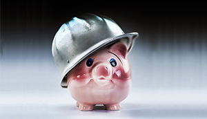 Hard Hat Piggy Bank